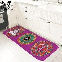 PEIYUAN Chào Mừng Bạn Trong Nhà Chùi Chân In Tinh Khiết Màu Yoga Di Chuyển Lá Đầy Màu Sắc Thiền Yoga Mat Sàn Cửa Mat Mat Thảm