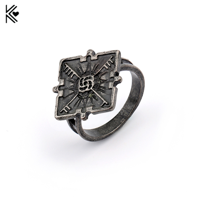 Hot Game Dishonored 2 Emily S Ring Vintage Antique Silver Color