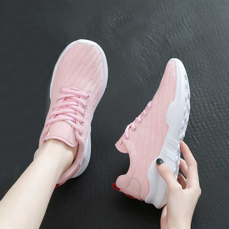 Woman 2019 Spring Sneakers Women Mesh Casual Shoes For Ladies Black Breathable Lightweight Sneakers Female Sports Running Shoe