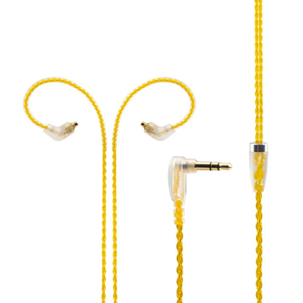 Wooeasy 6N Einzel Versilbert Kabel 3,5mm Gold Kabel Mit MMCX ...