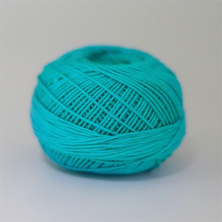 Размер 3 хлопковая Жемчужная Нить египетская длинная Штапельная хлопковая пряжа газированная двойная мерсеризованная 6 нитей плетение 50 грамм на шарик - Цвет: 658