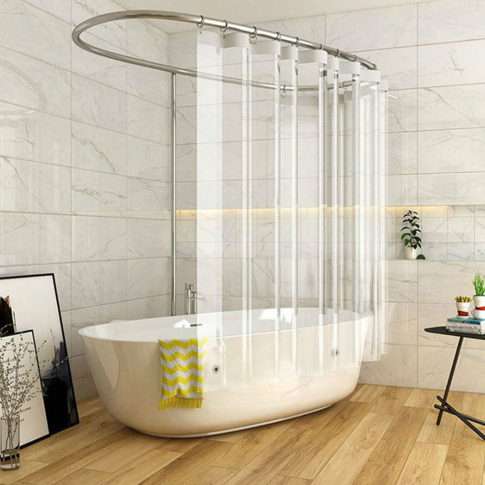 Full Transparent Shower Curtain Clear Bath Curtains Liner