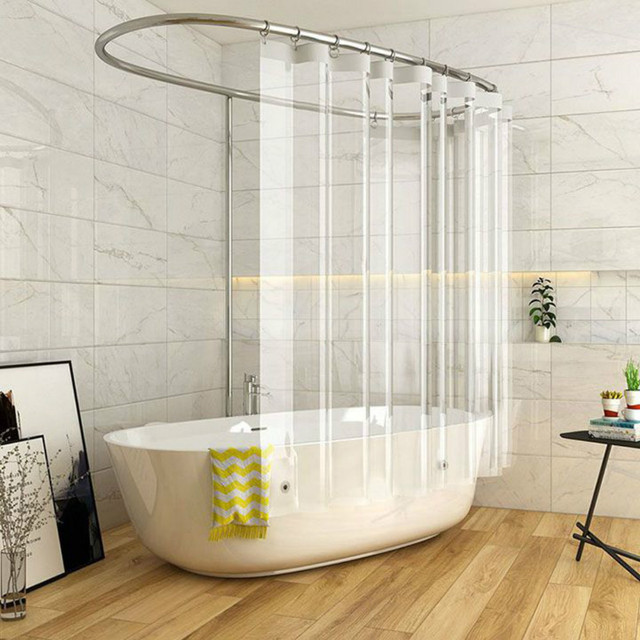 Full Transparent Shower Curtain Clear Bath Curtains Liner PEVA Mildew Proof Waterproof Fabric Bathroom For Home