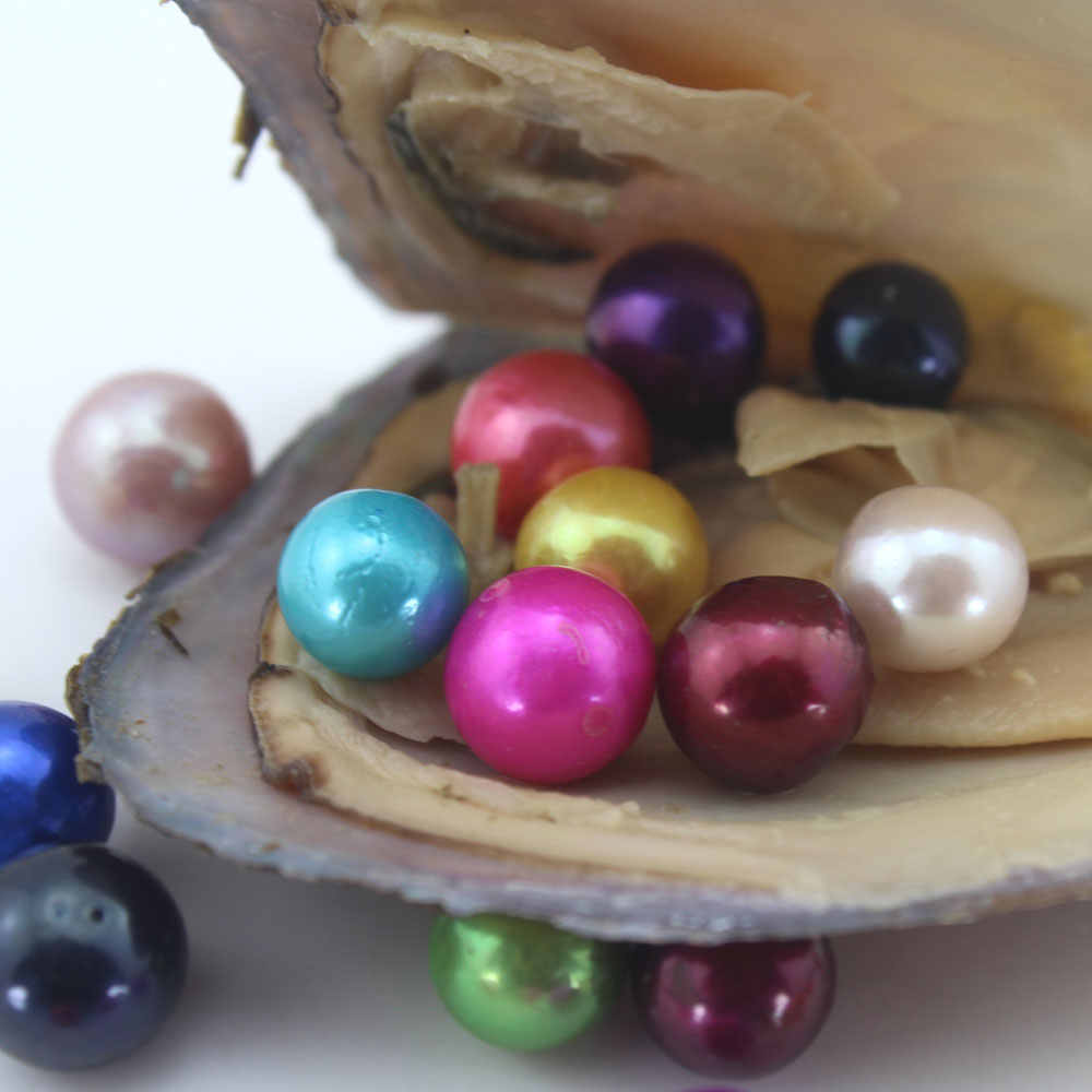 5/10/20Pcs Oysters With Single Edison Round Pearls Beads 9-12mm Big Large Edison Pearls Oysters Vacuum-packed Jewelry DIY EE2021