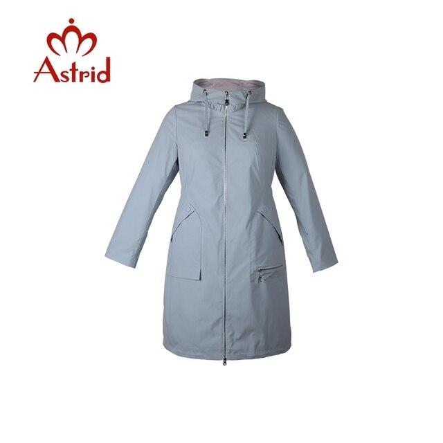 Астрид женщин плащ Весна с длинным капюшоном сплошной цвет пальто легкий Повседневное Дамская Куртки Новая коллекция как-1992 новый стиль