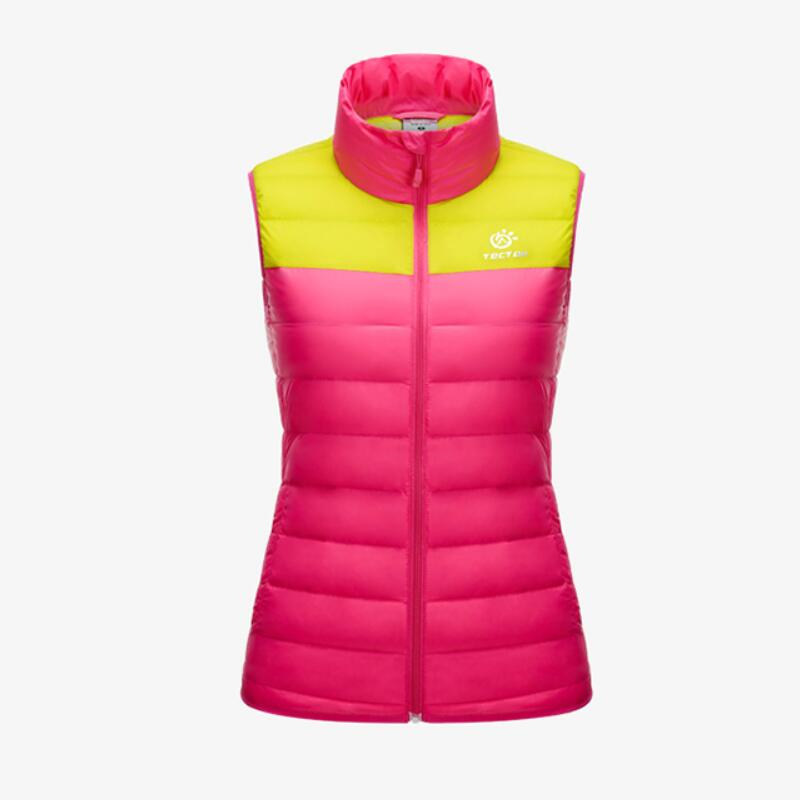TECTOP Winter 90% Down Waterproof Down Vest For Women and Men Camping & Hiking YW5186 tectop winter 90