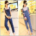 New Fashion Denim Overalls for 2015 Spring&Autumn Korean Style Women's Leisure Condole Belt Jumpsuits Cowboys Straps Trousers