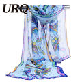 chiffon scarf print abstract women's scarf silk lady brand design spring summer patterns cape shawl wrap cachecol feminino 2017