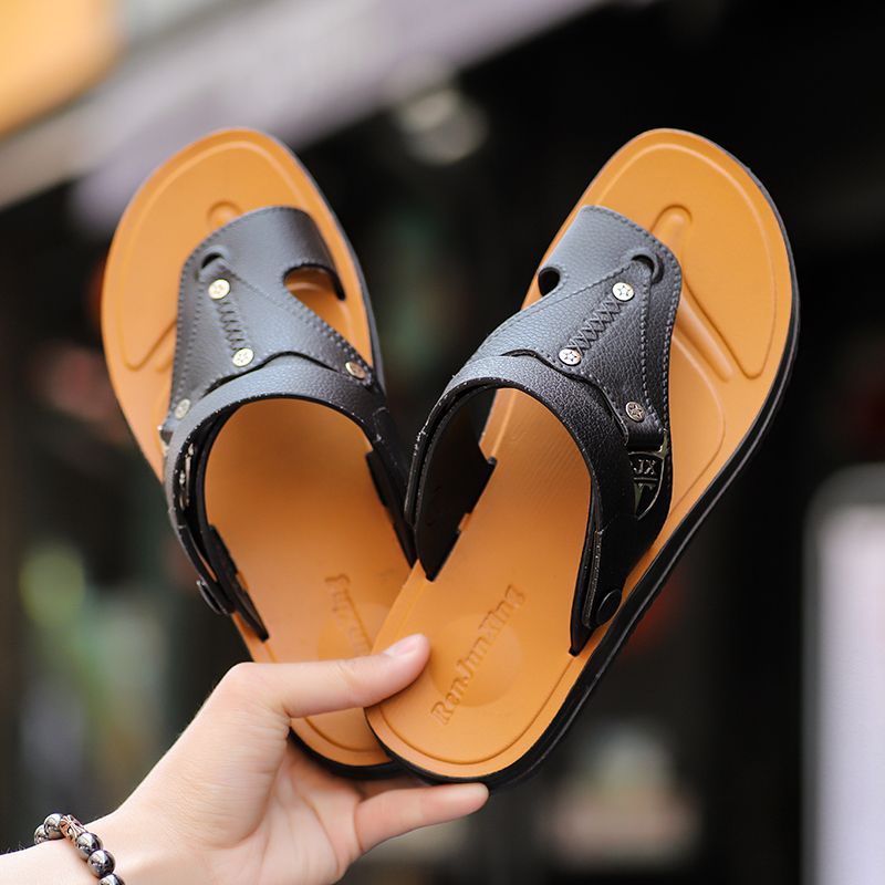 Leader Show Men Casual Sandals PU Leather Flat Slippers Zapatos Casuales De Hombre Dual Purpose Leisure Shoes Wearable LoafersLeader Show Men Casual Sandals PU Leather Flat Slippers Zapatos Casuales De Hombre Dual Purpose Leisure Shoes Wearable Loafers