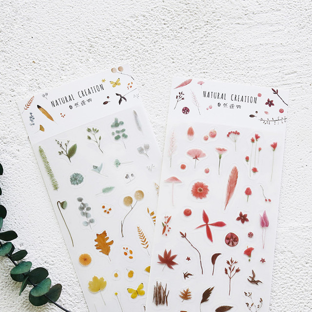 US $2.54 23% OFF|4sheets/pack PVC Gilding Sticker Nature  Plant/Snack/Valentine\'s Day Design Deco DIY Scrapbooking Golden Sticker-in  Stationery ...