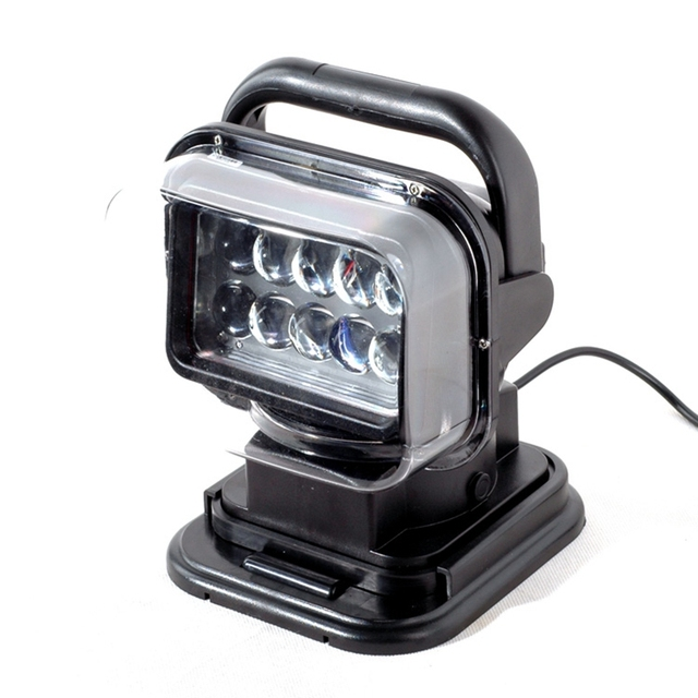 1pcs 12v 24v 50w 360 LED Rotating Remote Control Work Light Spot for SUV Boat Security Farm Field Protection Emergency Light