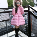 Grandwish Girls Thick Faux Fur Hooded Winter Jacket Children Down Warm Coat Girls Princess Outerwear Kids Clothes 6T-12T, SC362
