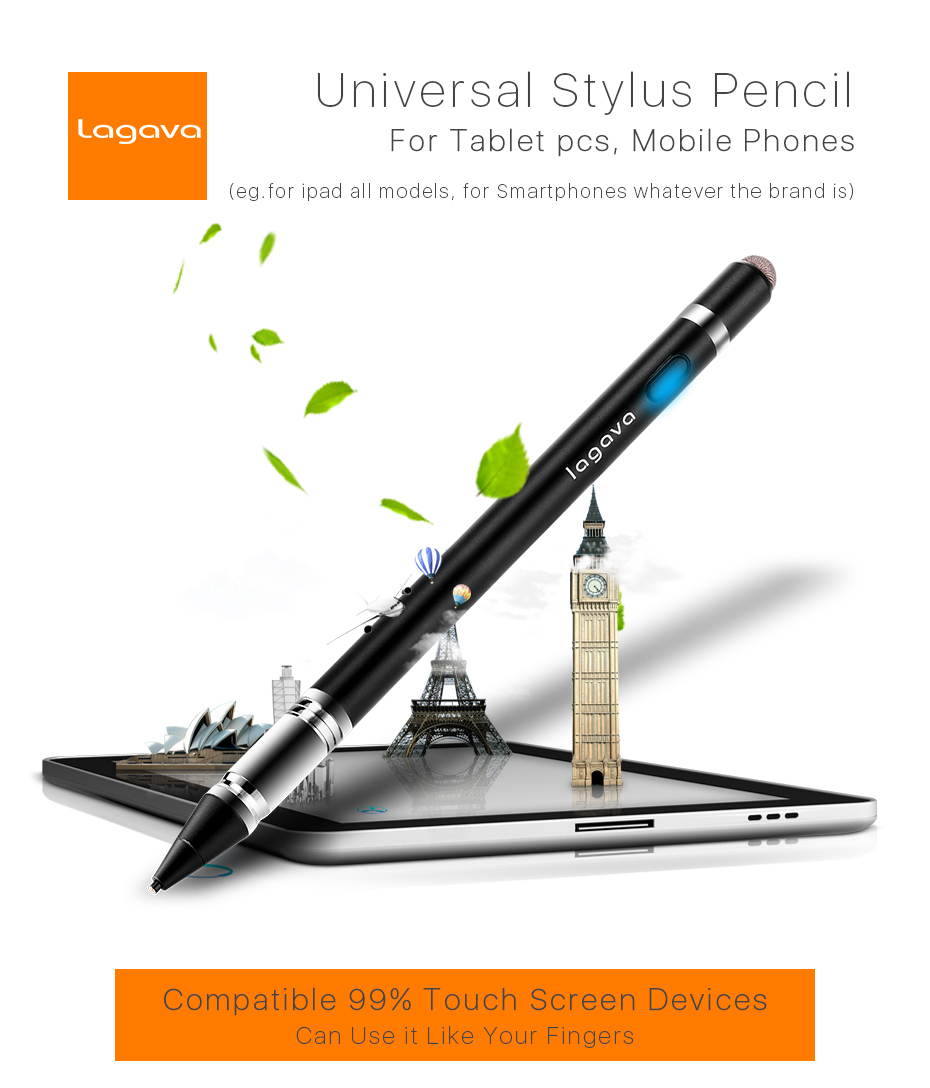 gold Capacitive Pen Touch Screen Stylus Pencil for Pad Phone Tablet Laptop