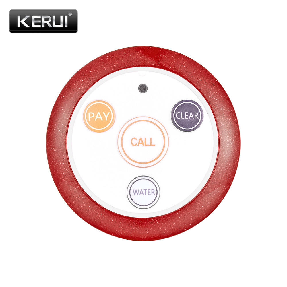 все цены на KERUI 433.92MHz Restaurant Pager Wireless Calling System Call Transmitter Bell Button Waterproof Wireless Call Button F64