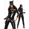 Hot Cat Gilr Costume Sexy Latex Cat Suit Shiny Party Girl Lady Unique Wear Masquerade Batman DS Nightclub Role Play Costume
