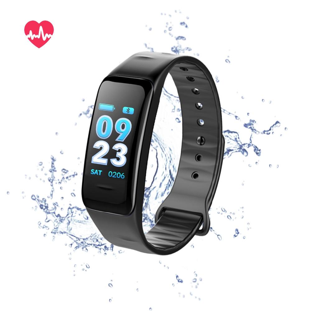 ddb392bacc Cs1 Farbdisplay Blutdruck Pulsoximeter Pulsmesser Wasserdicht Fitness  Tracker Rufen Erinnerung Smart Armband in Cs1 Farbdisplay Blutdruck  Pulsoximeter ...