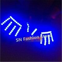 TT04 Red green blue yellow white colors LED gloves light fingertip bar club KTV Party props /ballroom Luminous dance DJ disco