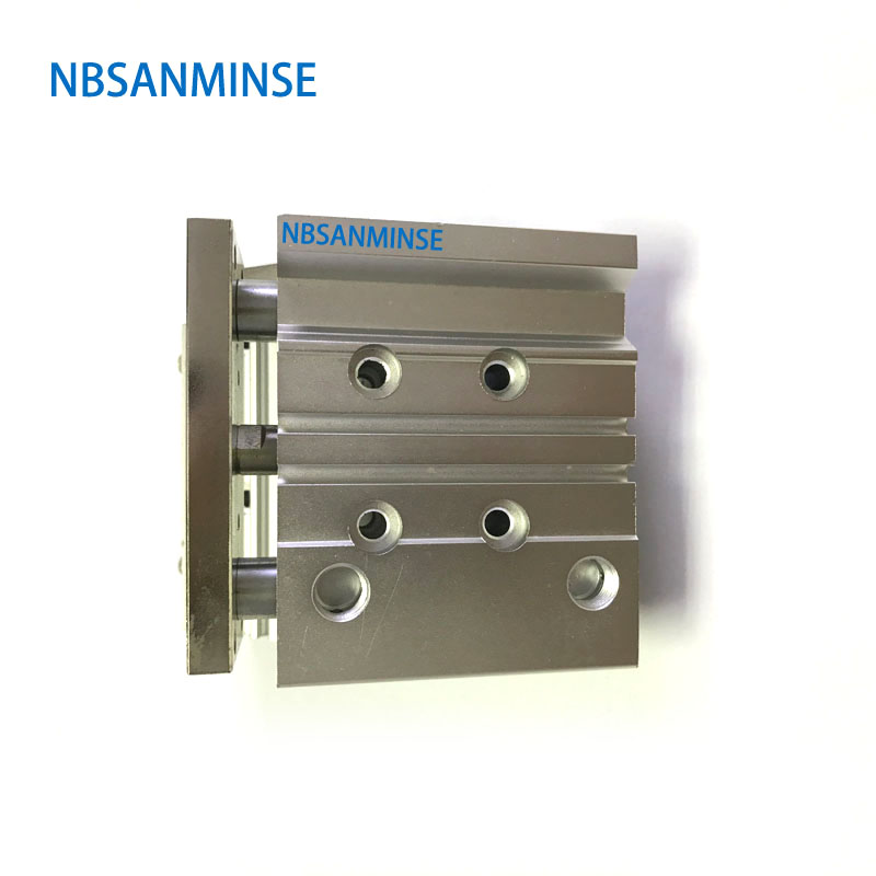 NBSANMINSE MGPL Bore 25mm SMC Type ISO Miniature Guide Rod Double Acting Pneumatic Compact Cylinder