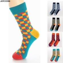 JAYCOSIN носки, 1 пара, модные мужские хлопковые цветные носки, теплые цветные Повседневные носки со стразами, одежда на каждый день, горячая Распродажа 9503