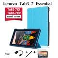 Para casos Lenovo TAB3-710F TAB3-710i Essencial 7 polegada tablet shell de proteção do computador coldre fina tampa do apoio de trinta por cento