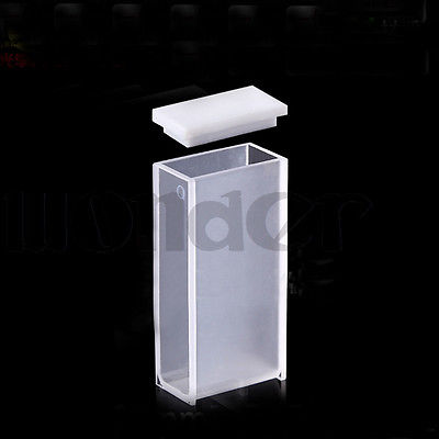 20mm Path Length JGS1 Quartz Cuvette Cell With PTFE Lid For Uv Spectrophotometers
