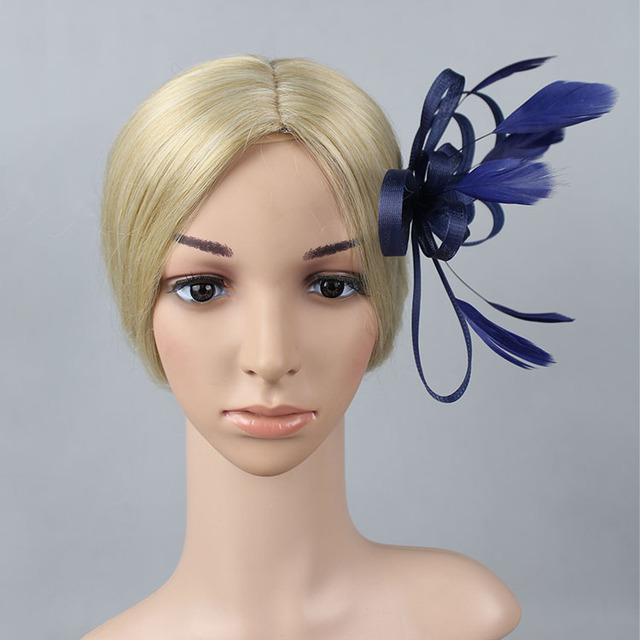 High Quality Mini Feather Hat Fascinator Flower Hair Clip Wedding Hats and Bridal  Hair Accessories 2fc452ecba8