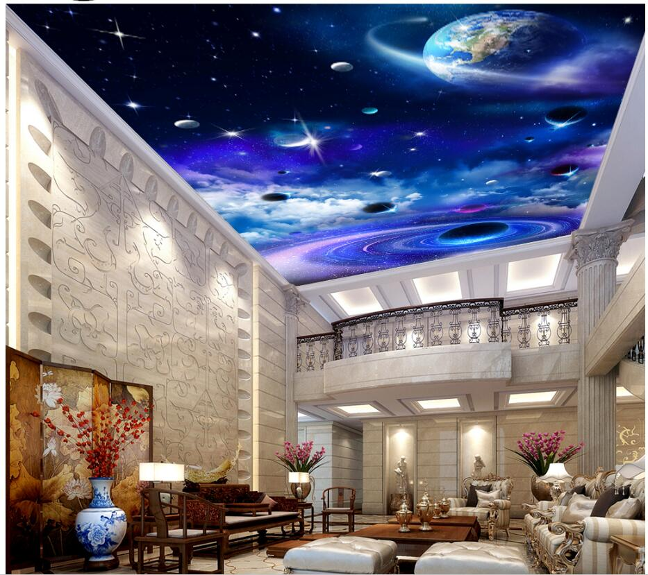 Custom photo 3d wallpaper ceiling mural Milky Way Starry Planet decor background painting 3d wall murals wallpaper for walls 3d custom photo 3d ceiling murals wall paper european spelling a flower room decor painting 3d wall murals wallpaper for walls 3 d