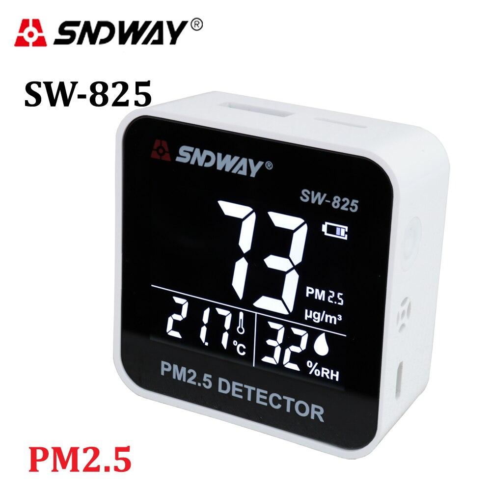 Moniteur de qualité de l'air numérique Laser PM2.5 testeur de détecteur moniteur de gaz/analyseur de gaz/outil de Diagnostic de compteur d'humidité de la température