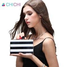 CHICHI Mini Frauen Abendtaschen 2016 Schwarz Clutch Bag Hochzeit Taschen Und Geldbörsen Luxus Handtaschen Designer Hochwertige Umhängetasche
