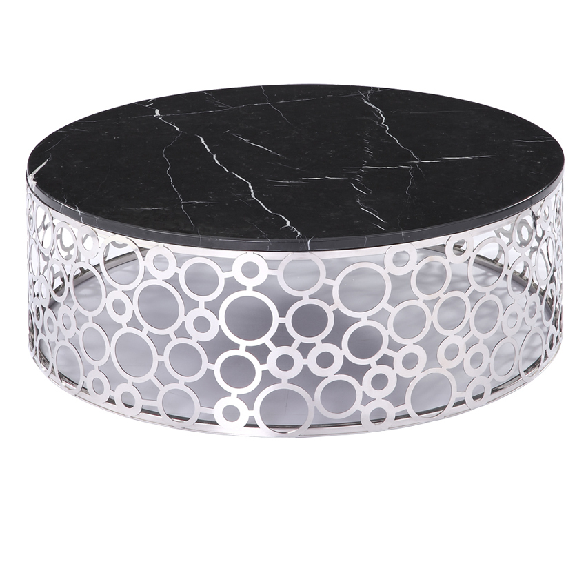 A5052 Fashion Simple Stainless Steel Round Coffee Table Marble Coffee Table  On Behalf Of A Small Living Room Coffee Table IKEA In Bar Tables From  Furniture ...