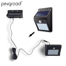 2-8 шт. 30 светодиодный разделяемый солнечный светильник с датчиком движения PIR, безопасный светодиодный светильник на солнечной батарее, уличный водонепроницаемый настенный светильник YSL111
