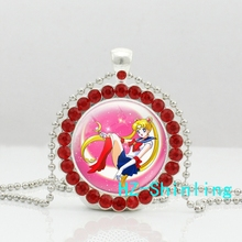 New Sailor Moon Crystal Pendant Anime Picture Jewelry Cardcaptor Sakura Necklace Ball Chain Pendants Silver Gifts Girl