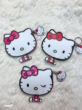 def508cd20b3 10pcs Cartoon hello kitty PU wallet Keychain Cute Key Ring Cover Holder  Hadbag Bag Women Men