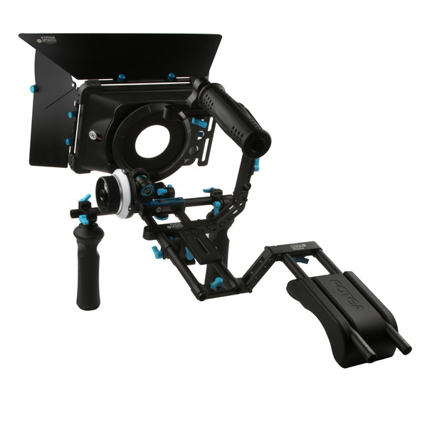 Fotga DSLR follow focus 15mm rod rail matte box handle shoulder support rig kits free shipping