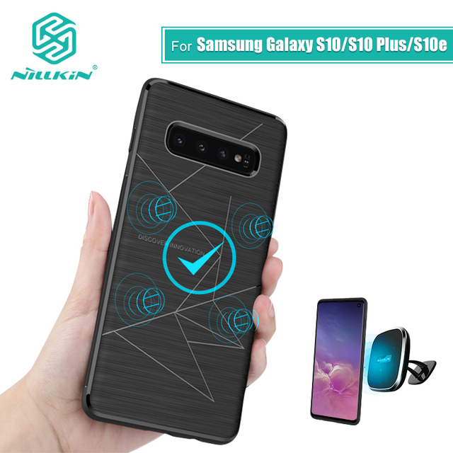 NILLKIN Magnetic Qi Wireless Charger Charging Receiver case for Samsung Galaxy S10 Case Cover 6.1 For Samsung S10 Plus Case 6.4