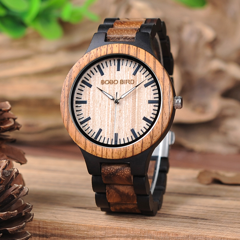 BOBO BIRD Lover's Wood Watch Men Women Couple Wristwatches Top Brand Design Elegant Wooden Quartz Gift Cuostom Logo Saat Erkek
