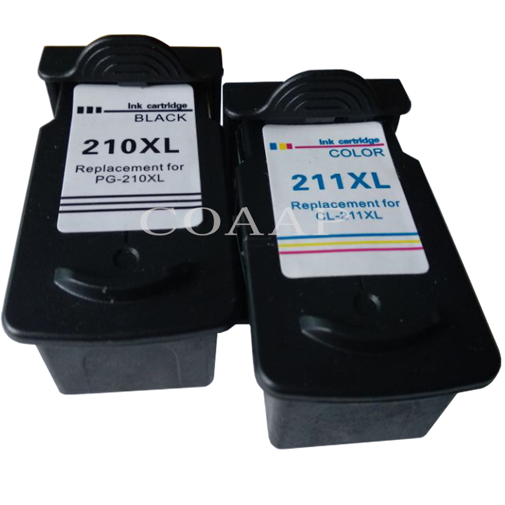 Refilled PG210 CL211 ink cartridge for CANON Pixma MP240 MP250 MP260 MP270 MP280 MP480 MP490 MP495 Printer image