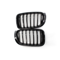 For BMW X3 F26 14 16 Car Front Hood Kidney Grille Grill 2 Pcs Black Auto Bonnet Grill Racing Grills Black
