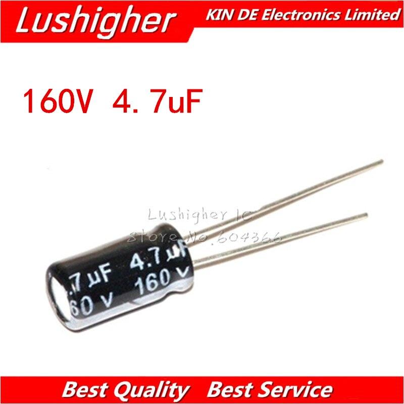 20PCS 160V4.7UF  6*11mm 4.7UF 160V 6x11 Mm Aluminum Electrolytic Capacitor DIP