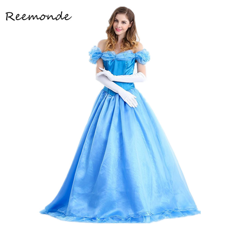 Fairy Tale Cosplay Cinderella Costumes Halloween Party Women Girls Fancy Dress Cinderella Princess Dress Cosplay Costumes