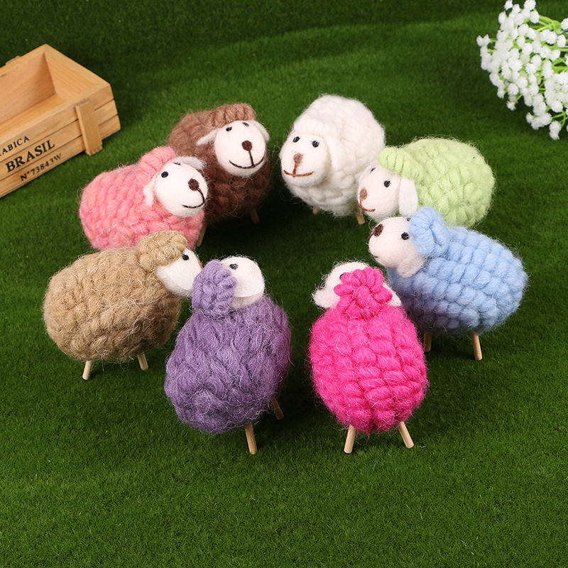 Hot cartoon Lovely Alpaca Sheep Plush Stuffed Toy Room Decoration Fashion creative fill plush toys Child gifts