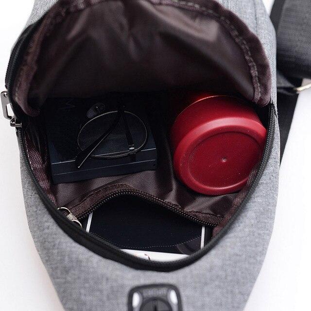 Fashion Men's Outdoor Sports Oxford Cloth Crossbody Shoulder Bag Breast Bag Waist Bag Y415 5