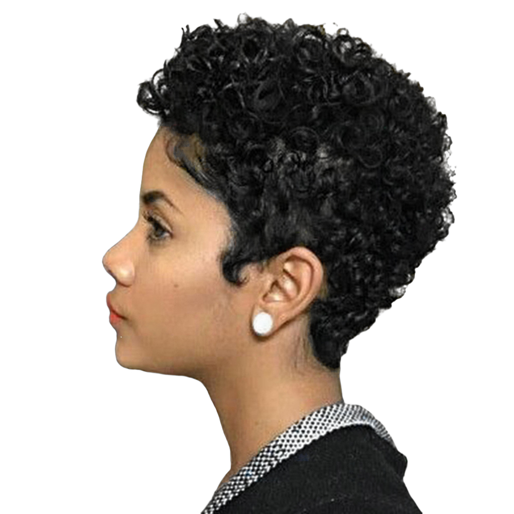 Natural Human Hair Women Afro Kinky Wig Curly Wig Short Curling Wigs Cosplay free shipping wigs cosplay wig 150cm long straight hair wig black wig costume stage television