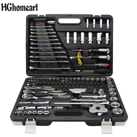 123PCS Professional Car Repair Tools A Complete Set of High Quality Car Tools Ratchet Wrench Set Sleeve Tool Home Repair