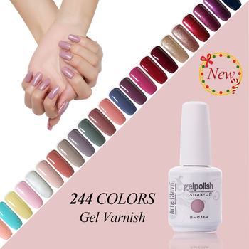 Arte Clavo Soak Off Organic UV Gel Semi Permanent Lucky Nails Gel Varnish Led Lamp Nail Polish 244 Colors UV Gel Nail Polish
