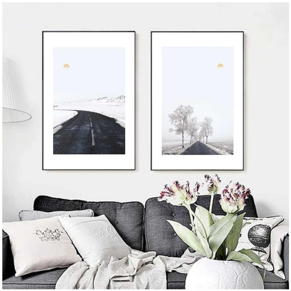 Nordic style Canvas Art For Living Room Wall Art Canvas Painting Nature decoration pictures laminas de cuadros pared decorativas