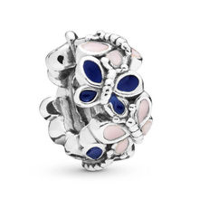 Authentic 925 Silver DIY Jewelry Butterfly Spacer Charms fit Lady Bracelets Bangle(China)