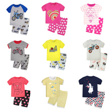 Toddler Pijamas Set 100% Cotton Pajamas Clothing Siut Cartoon Sleepwear Girls Pijama Boys T-shirt Pants Pyjamas for Kids Pyjama