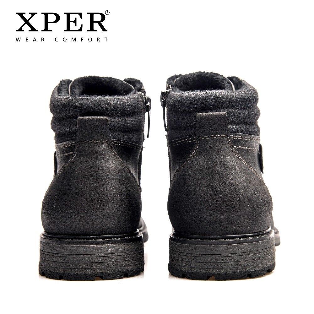 Xhy12505 up Taille Hommes Hiver De Marque Porter Xper En 40 Neige Bottes Chaud Confort Grande Dentelle Courtes Chaude Mode Black Chaussures 48 Peluche Boots wq1Uppv
