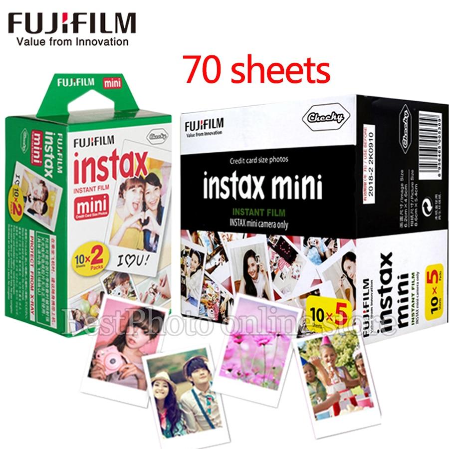 70 feuilles Fujifilm instax mini film bord blanc 3 pouces de large film pour appareil Photo instantané mini 8 9 7 s 25 50 s 90 SP1 papier Photo